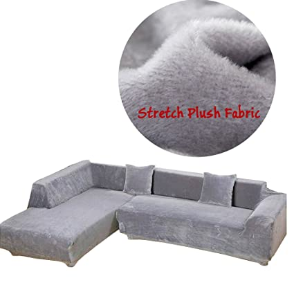 Amazoncom Taiyucover Warm Plush L Shaped Sofa Coversstretch L