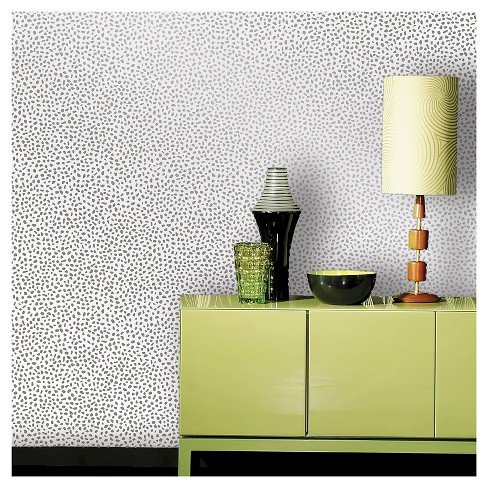 Devine Color Speckled Dot Sterling Peel and Stick, Removable, Wall and Surface Covering Contact Paper ()