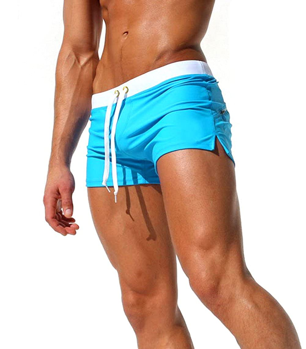 XARAZA Men's Swimwear Swimsuits Basic Swim Boxer Trunks Board Shorts Pants