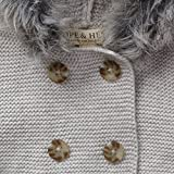 Hope & Henry Layette Grey Baby Sweater Faux Fur