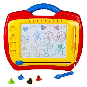 Pizarra Magnética Infantil Pizarra Magica Colorido Tabla de Dibujo Magnética Juguetes Educativos Juego Creativos para Niños, 3 Años+