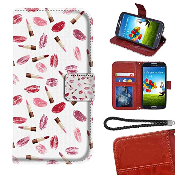Amazon com: LG G7 ThinQ Wallet Case, Cosmetics Beauty Theme Pink and
