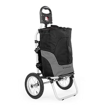 Duramaxx Carry Grey Carrito remolque para bicicleta • Carga 20 kg • Bolso desmontable • Neumáticos