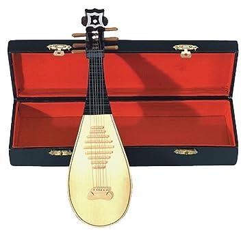 GEWA 980660 - Instrumentos en miniatura, laud con estuche, 15 cm
