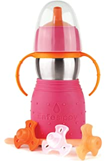 Fuschia Kid Basix The Safe Sporter Water Bottle 12-Ounce