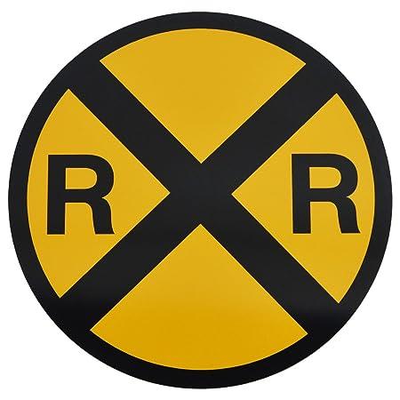 Amarillo Metal precaución Railroad Crossing Road calle ...