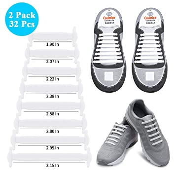 02e48bf5a0d6 No Tie Shoelaces for Elderly Seniors Waterproof Silicone Tieless Easy to  Install Works in All Shoes