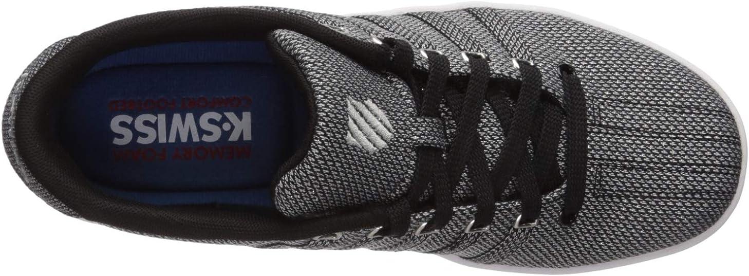 K-Swiss Women's Court PRO II T SE CMF Sneaker Black/Silver/White