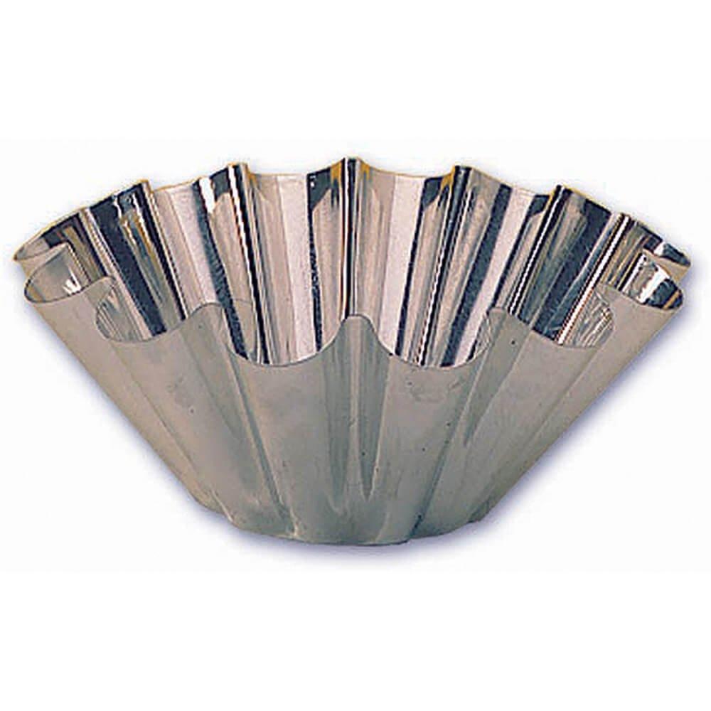 Matfer Bourgeat 14-Fluted Tin Brioche Mold, 7-7/8-by-3-1/4-Inch by Matfer Bourgeat (Image #1)