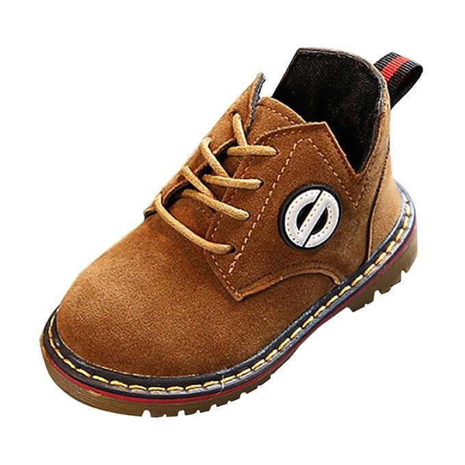 YanHoo Zapatos para niños Moda Infantil de otoño e Invierno Botas Botines Moda Infantil Chicos Chicas Zapatillas Botas Niños Bebé Casual Zapatos Mantener ...