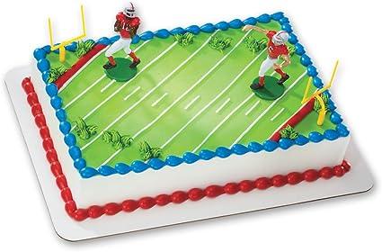 Incredible Amazon Com Football Touchdown Decoset Cake Decoration Toys Games Birthday Cards Printable Giouspongecafe Filternl