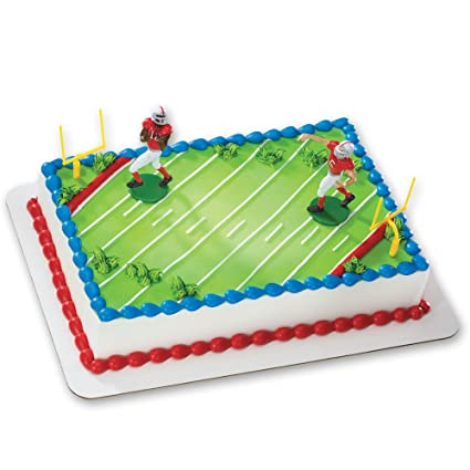 Amazon Com Football Touchdown Decoset Cake Decoration Toys Games