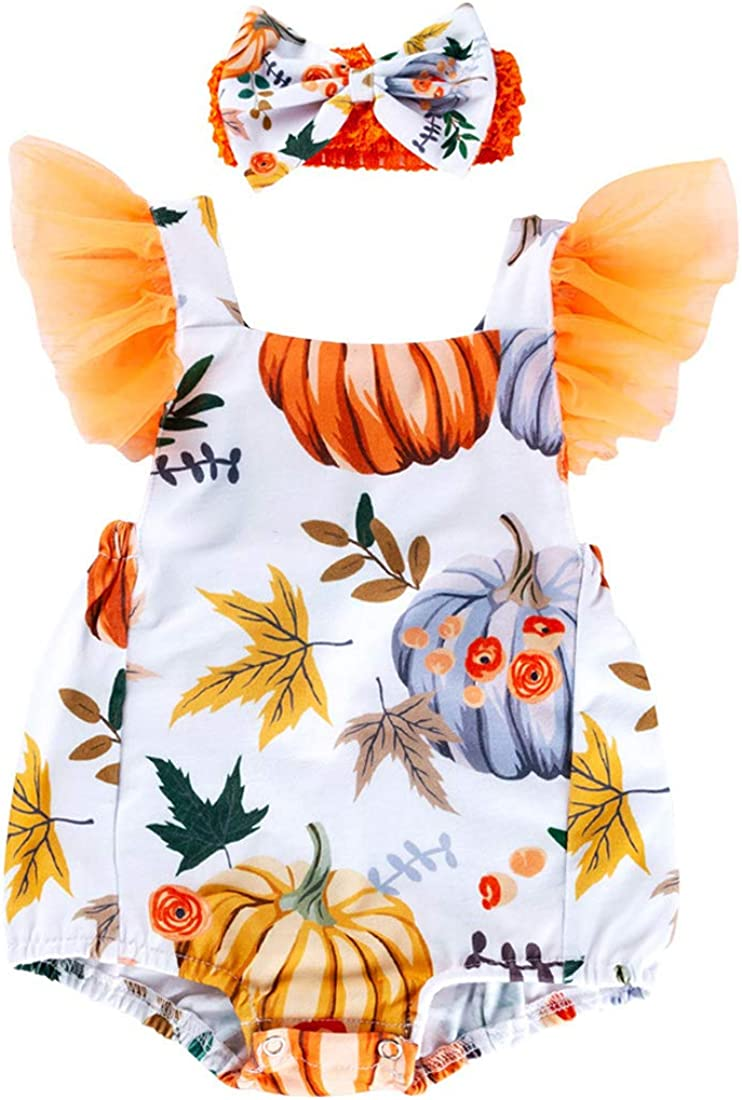 Baby Halloween Rompers Deloito Baby Girls Boys Long Sleeve Halloween Cartoon Skull Pumpkin Jumpsuit Halloween Bodysuits Outfits Party Costume Clothes