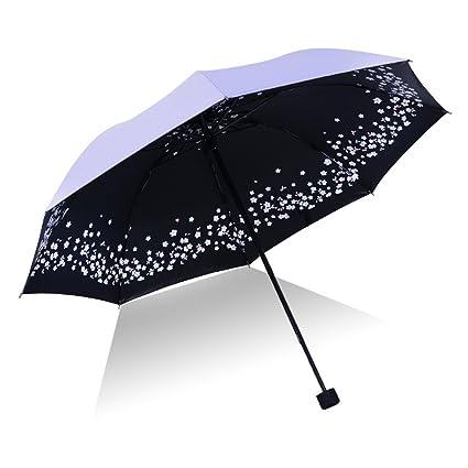 Ai-life Mini Paraguas Compacto Plegable De Viaje(patrón de flores), Ultraligero