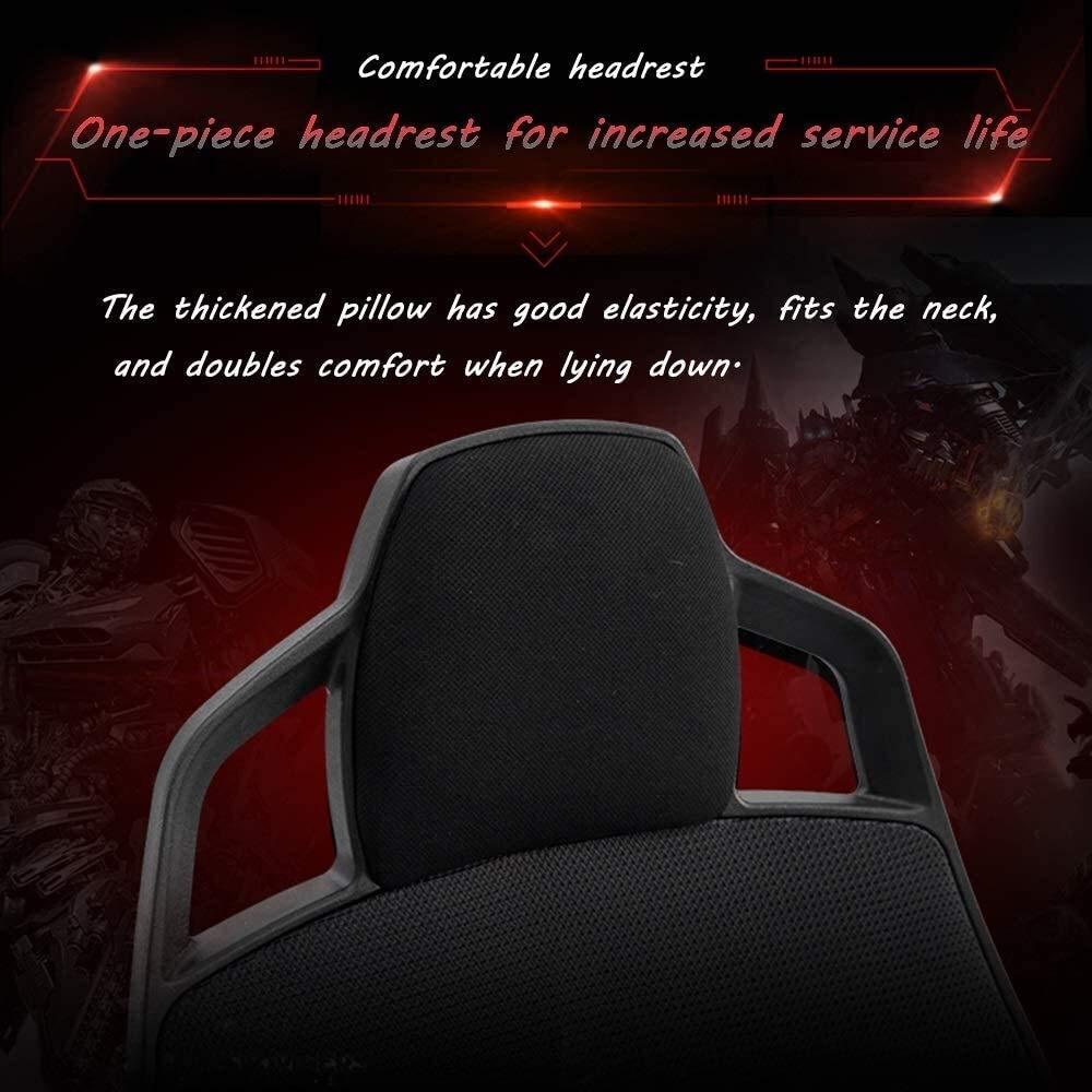 Xiuyun svängbar stol datorstol, 360° rotation ergonomi justerbar kontorsstol multifunktion liggande hög rygg E-sport stol spelstol med nackstöd och ländrygg stöd (färg: svart) Blue