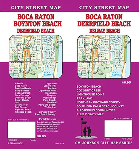 Boca Raton / Deerfield Beach / Delray & Boyton Beach, Florida Street Map