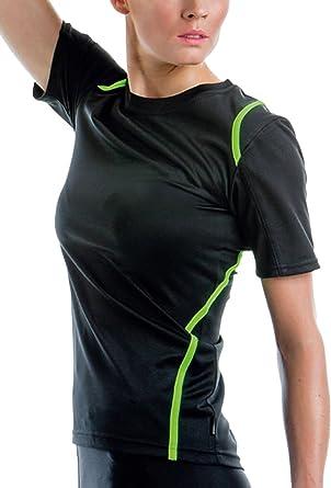 511e85d99994 GameGear Gamegear Cooltex ® ® T-shirt à manches courtes pour femme Noir   fluorescent