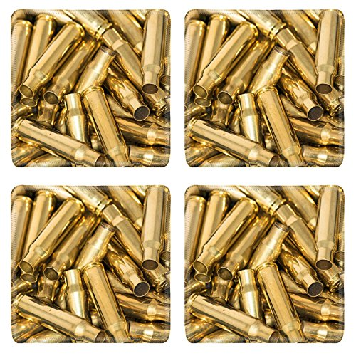 Empty Bullet (Liili Square Coasters Abstract of pile of empty shells with details Photo 23921471)