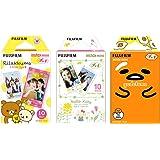 Fujifilm Instax Mini Instant Film 3-PACK BUNDLE SET RiLakkuma Film (10) Hello Kitty (10) Gudetama (10) Stickers 20 pcs. for 90 8 70 7s 50s 25 300 Camera SP-1 Printer