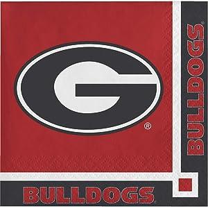 40 University of Georgia Bulldogs 2-ply Premium Beverage Napkins College Football Party Tailgating