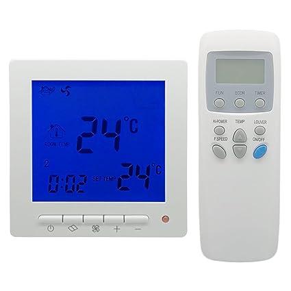 beok tol63rm-ac2 Bobina Del Ventilador termostato Digital con mando a distancia inalámbrico, FCU