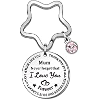 Mothers' Day Keychain-Mum Never forget that I Love You Forever Keyring Key Chain, Mom Birthday from Daughter Son…