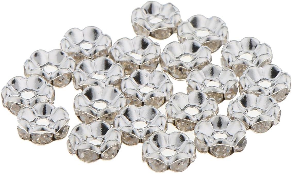 100pcs Glitzer Metallperlen Zierperlen Kügelchen Zwischenperlen Bastelperlen