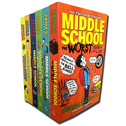 Patterson, James Middle School 6 Books Collection Pack Set (Save Rafe!:, Ultimate Showdown: (Middle School 5), The Worst Years of My Life, My Brother Is a Big, Fat Liar, Get ()