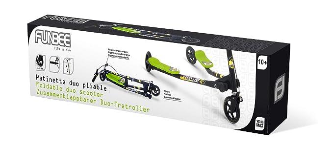 Amazon.com: Funbee Duo Plegable de 3 ruedas patinete ...