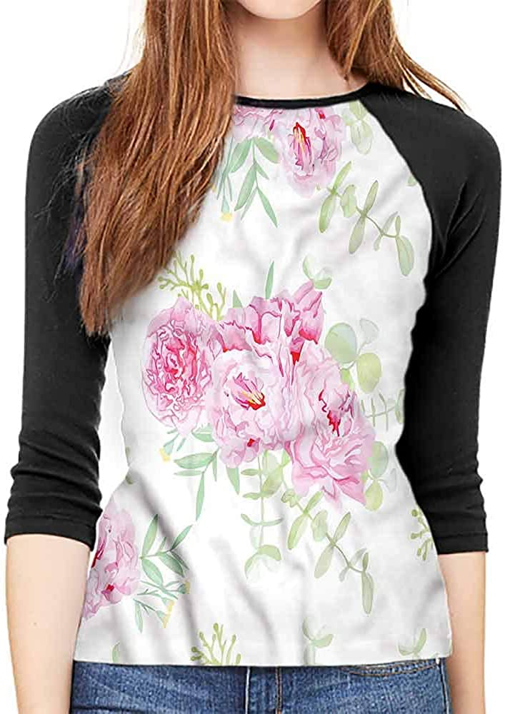 Shabby Chic Long t Shirt Serenity Garden Theme Casual Polyster O Neck Sport T Shirt,
