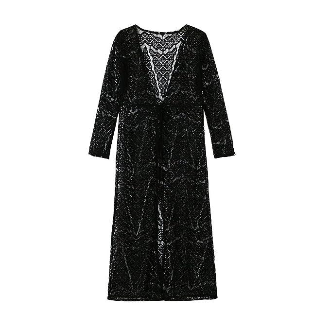 2019 Sommer Damen Transparent Hemdkleid Mesh Bunt Strand Kurze Ärmel Kleid