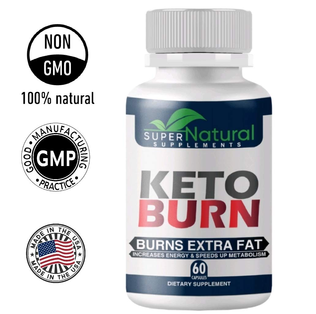 100% Natural ** Pure Keto Diet Pills - Keto Pills with BHB Made with Natural Ingredients, Boosts Energy and Metabolism - 60 Capsules by Super natural supplements