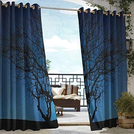 Cortina de privacidad para exteriores para pérgola azul marino y verde azulado, patrón geométrico de color
