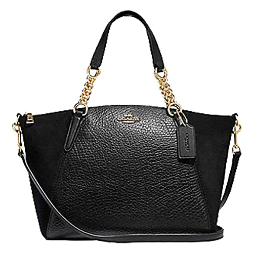 ad71195b64e23 COACH SMALL KELSEY CHAIN SATCHEL BLACK  Amazon.co.uk  Shoes   Bags