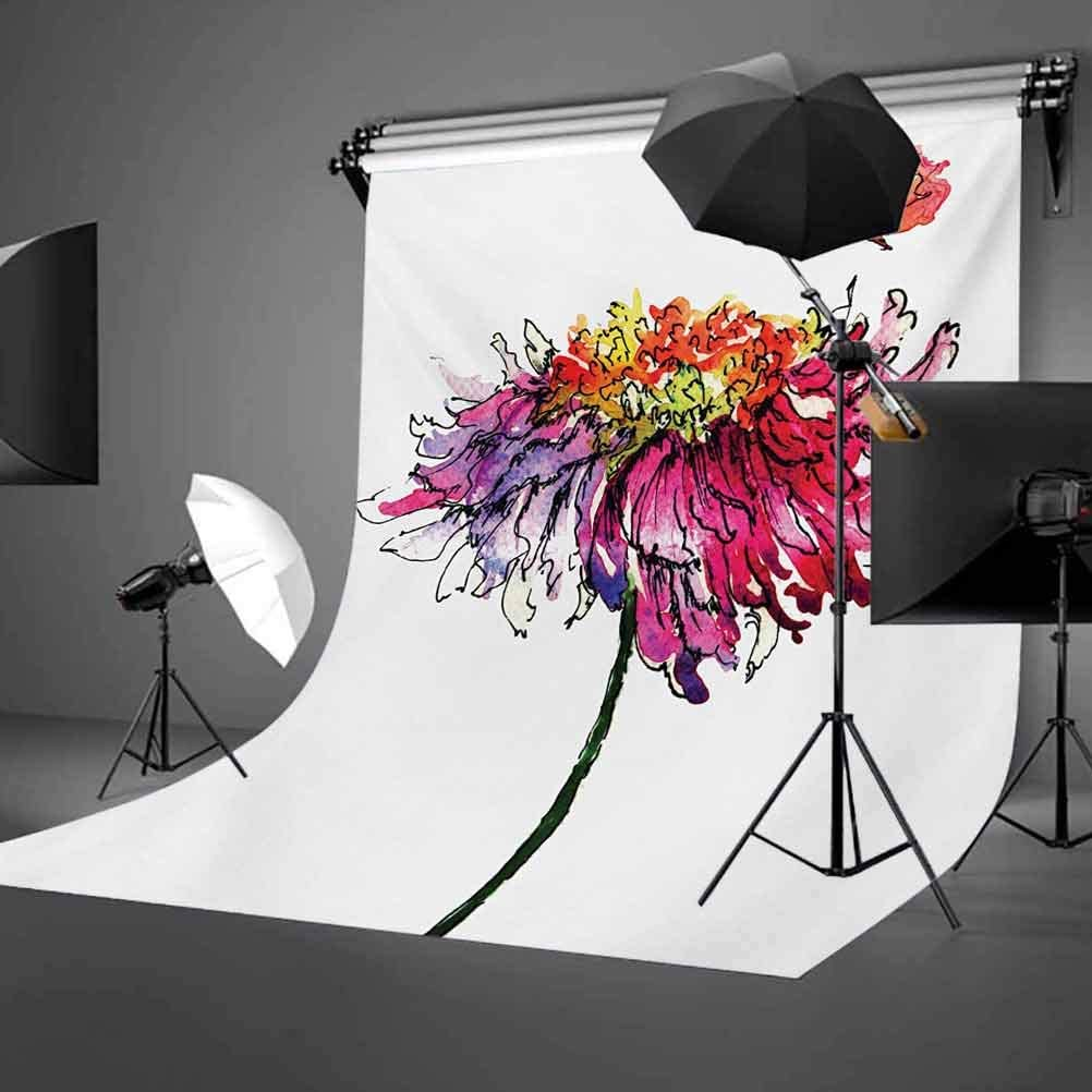 Watercolor 10x12 FT Backdrop Photographers,Chrysanthemum Flower Illustration Friendship Well Being Honoring Loved Ones Background for Photography Kids Adult Photo Booth Video Shoot Vinyl Studio Props