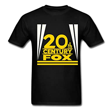 73247c78 Image Unavailable. Image not available for. Color: Best Quality Custom  Men's 20th Century Fox Logo T-Shirts Black