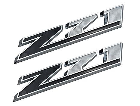 Amazon Com Aimoll 2pcs 10 Inch Big Chrome Z71 Emblems For Gmc Chevy