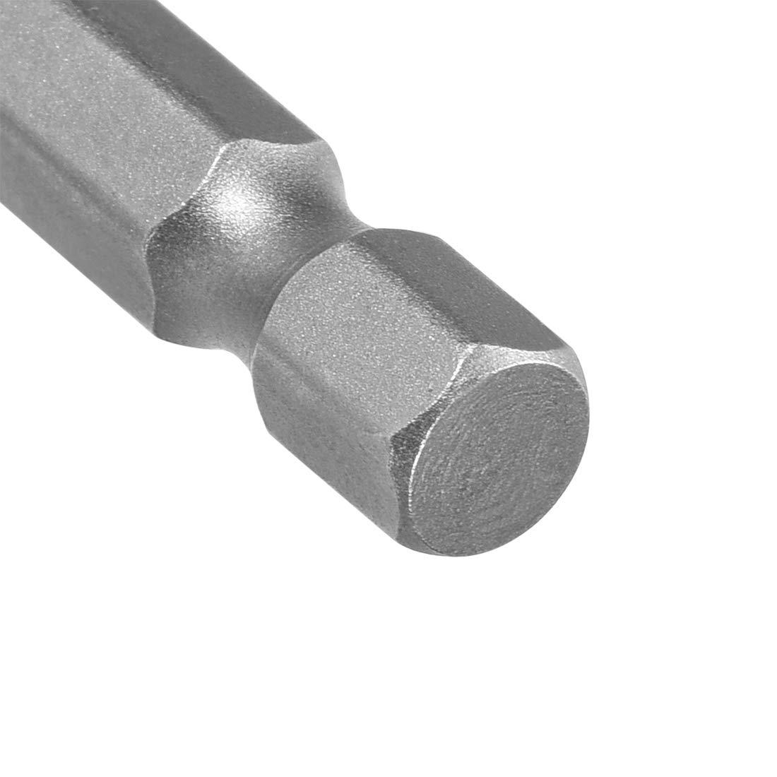 Sourcingmap Brocas para destornillador de cabeza plana magn/éticas, 50 mm, acero de aleaci/ón S2