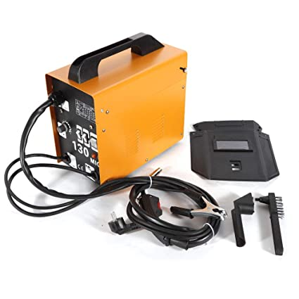 Equipo de soldadura inalámbrica de Oukaning con gas MIG 130, soldador de electrodos Ampere