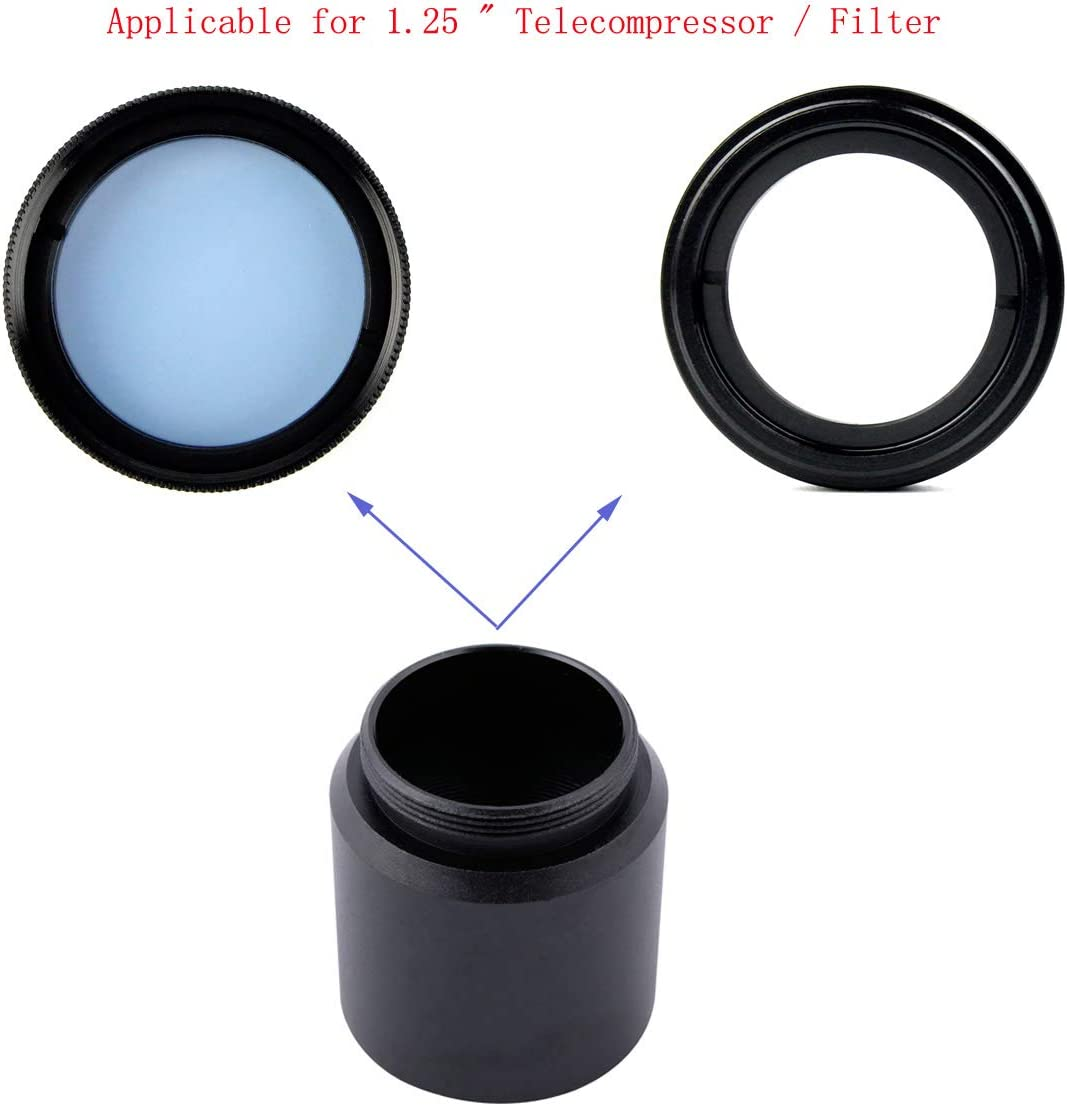 SVBONY C Mount to 1.25 Video Camera Barrel Adapter Telescope Astrophotography Connect Standard 1.25 Filter Threads
