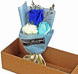 VNEIRW Badeseife Rosen Strauß Seife Duftenden Bad Körper Blütenblatt Rose Blume Dekoration in Geschenkbox, Romantische Geschenk für Muttertag, Valentinstag, Jahrestag, Geburtstag