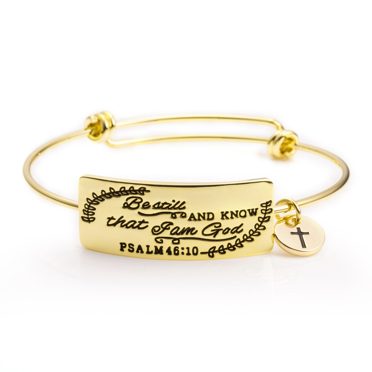 Inspirational Bible Verse Christian Bangle Bracelets Jewelry Gift for Women Engraved Encourage...
