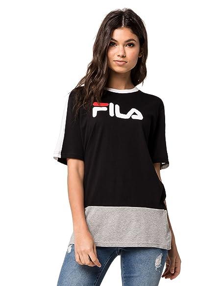 06fd0384f39d Fila Reba Graphic Cut   Sew T-Shirt at Amazon Women s Clothing store