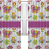 RNK Shops Butterflies Curtains – 56″x80″ Panels – Lined (2 Panels Per Set) (Personalized) For Sale