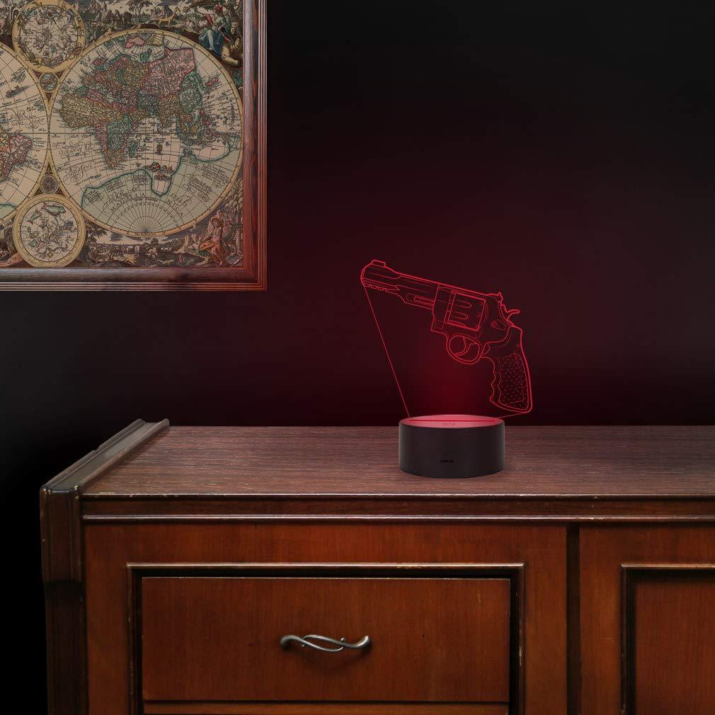 3D LED Lampe CSGO Nachtlicht Leuchte 7 Farben Elbeffekt Glock-18 Geschenk Stimmungslicht Acryl Illusion Dekoration Dekolicht