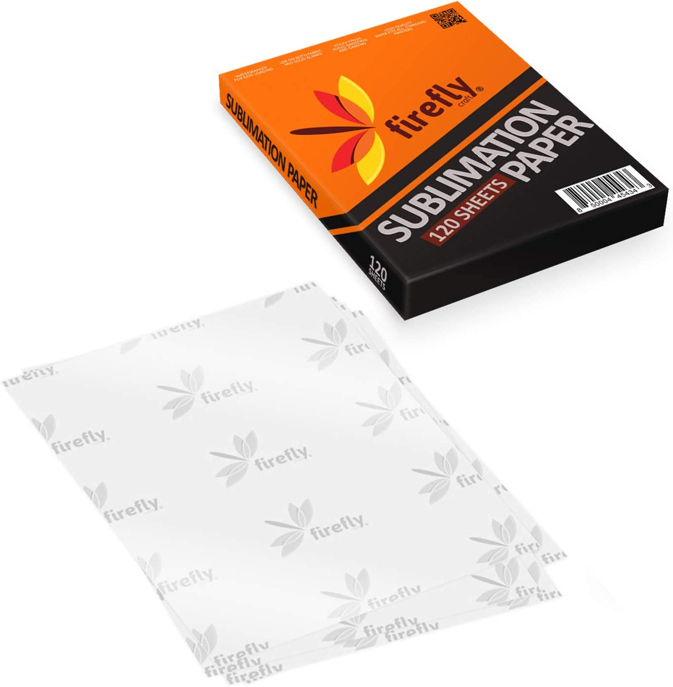 8.5 x 11 for Any Printer with Sublimation Ink 120 Sheets Firefly Craft Sublimation Paper Heat Transfer