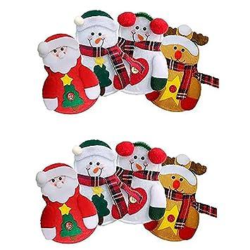 Los titulares 8PCS Cubiertos de Navidad del Partido de Navidad Pockets Cubierta Cubiertos Inicio Mesa de la Cena Cortadores Forks Bolsas: Amazon.es: Hogar