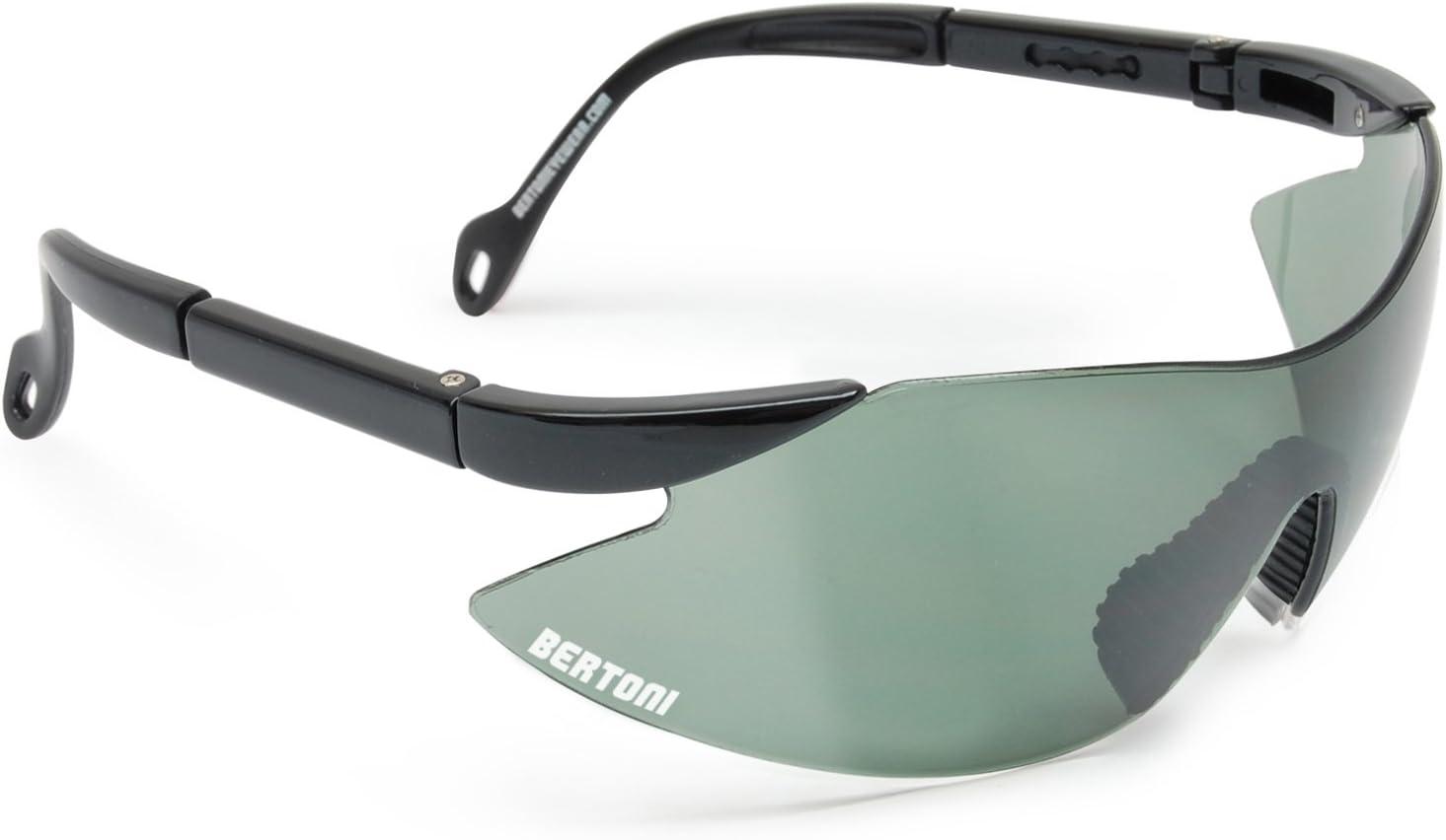 Bertoni iWear SA AF185 - Gafas de tiro, protección para campo de tiro, con lentes resistentes a los impactos y patillas ajustables