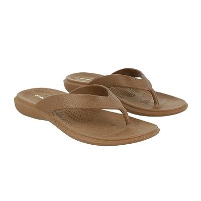 Okabashi Women's Maui Flip Flop Sandals (Medium/Large/Chai)   Flip-Flops