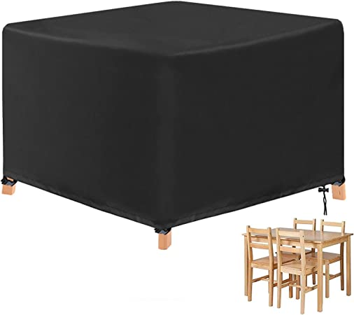 Yuyo Cube Garden Furniture Covers Garden Table Cover Square Heavy Duty Oxford Waterproof Cover For Patio Cube Set 123 X 123 X 74cm Amazon Co Uk Garden Outdoors